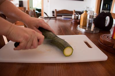 The first courgette from this year's crop